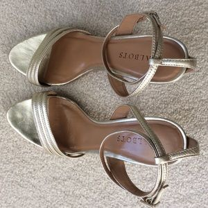 Talbot Gold Size 8 Ankle Strap Heels